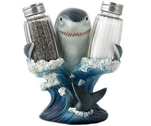 Great White Shark Glass Salt and Pepper Shaker