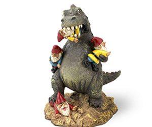 A Godzilla Garden Gnome