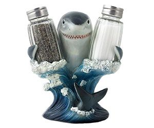 Shark Glass Salt and Pepper Shaker