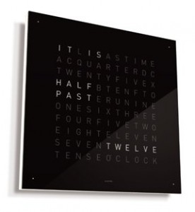 Wall Text Clock