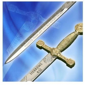 Double Edged Sword Letter Opener