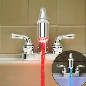 LED Temperature Sink Faucet