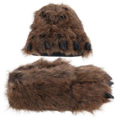 Grizzly Bear Paw Slippers