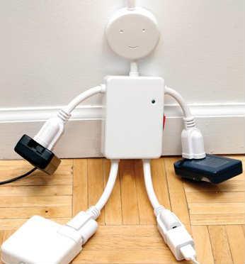 Electro Man 4-Plug Multi-Outlet