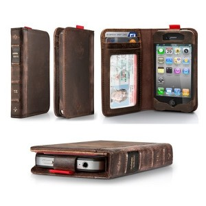 iPhone Leather Book Case & Wallet