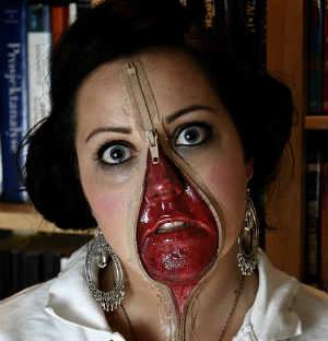 zombie zipper face
