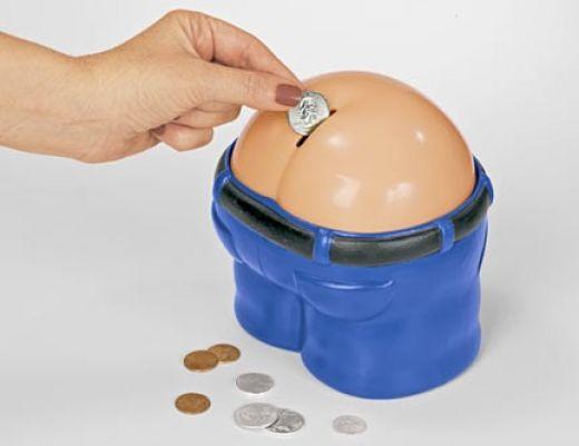 Fanny Bank Funny Farting Coin Drop Bank