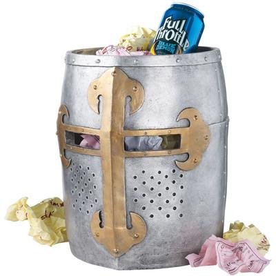 Crusader's Great Helm Gothic Trash Bin