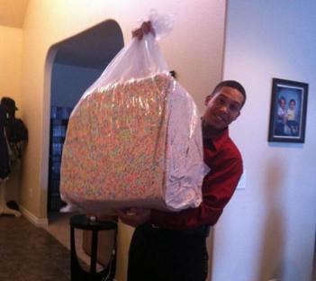 bag of lucky charm marshmallows