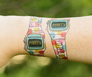 Party Watch Temporary Tattoo