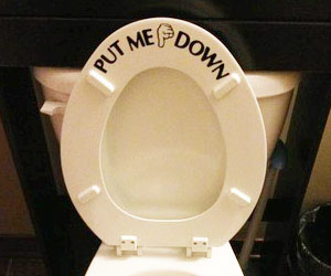 PUT ME DOWN Toilet Seat Sticker