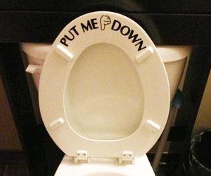 PUT ME DOWN Decal Bathroom Toilet Seat Vinyl Sticker