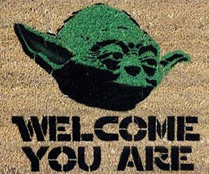 yoda welcome doormat