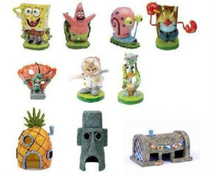 Spongebob's 10-Piece Aquarium Set