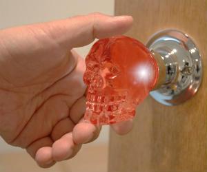 Crystal Skull Doorknob