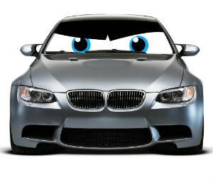 Angry Eyes Car Sun Shade