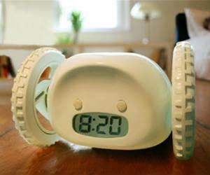 clocky alarm on wheels