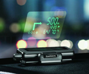 Windshield GPS Display