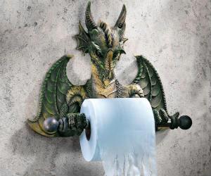 Commode Dragon Tissue Holder