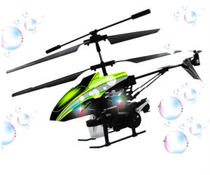 Bubble Shooting RC Helicopter