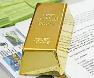 Fake Gold Bar Door Stop