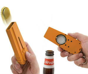 Bottle Opening Cap Launcher