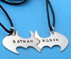 Batman & Robin Bromance Necklace