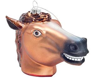 Creepy Horsehead Ornament