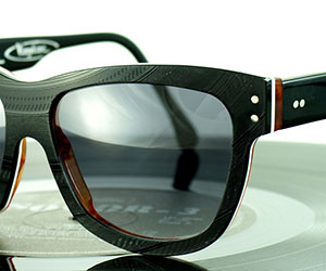 Glasses made from vinyl records