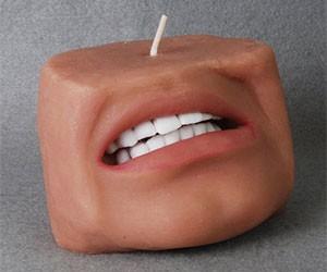 Human Face Candle