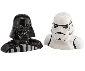 Star Wars Darth Vader and Stormtrooper Salt and Pepper Shakers