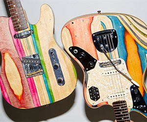 Guitars made from old skateboards