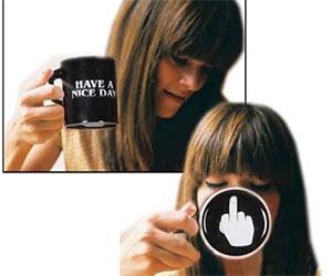 Vansaile Have a Nice Day Coffee Mug Middle Finger coffee mug