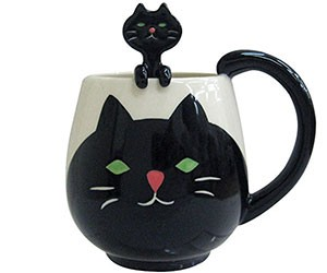 Decole Cat Manmaru Mug + Spoon