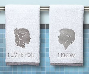 Han and Leia Bathroom Hand Towels