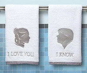 leia han hand towels