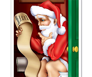 Santa Restroom Door Cover Party decal