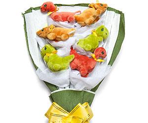 plush bouquet dinosaurs