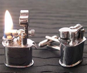 Mini Lighter Cufflinks