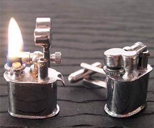Mini Lighter Cufflinks